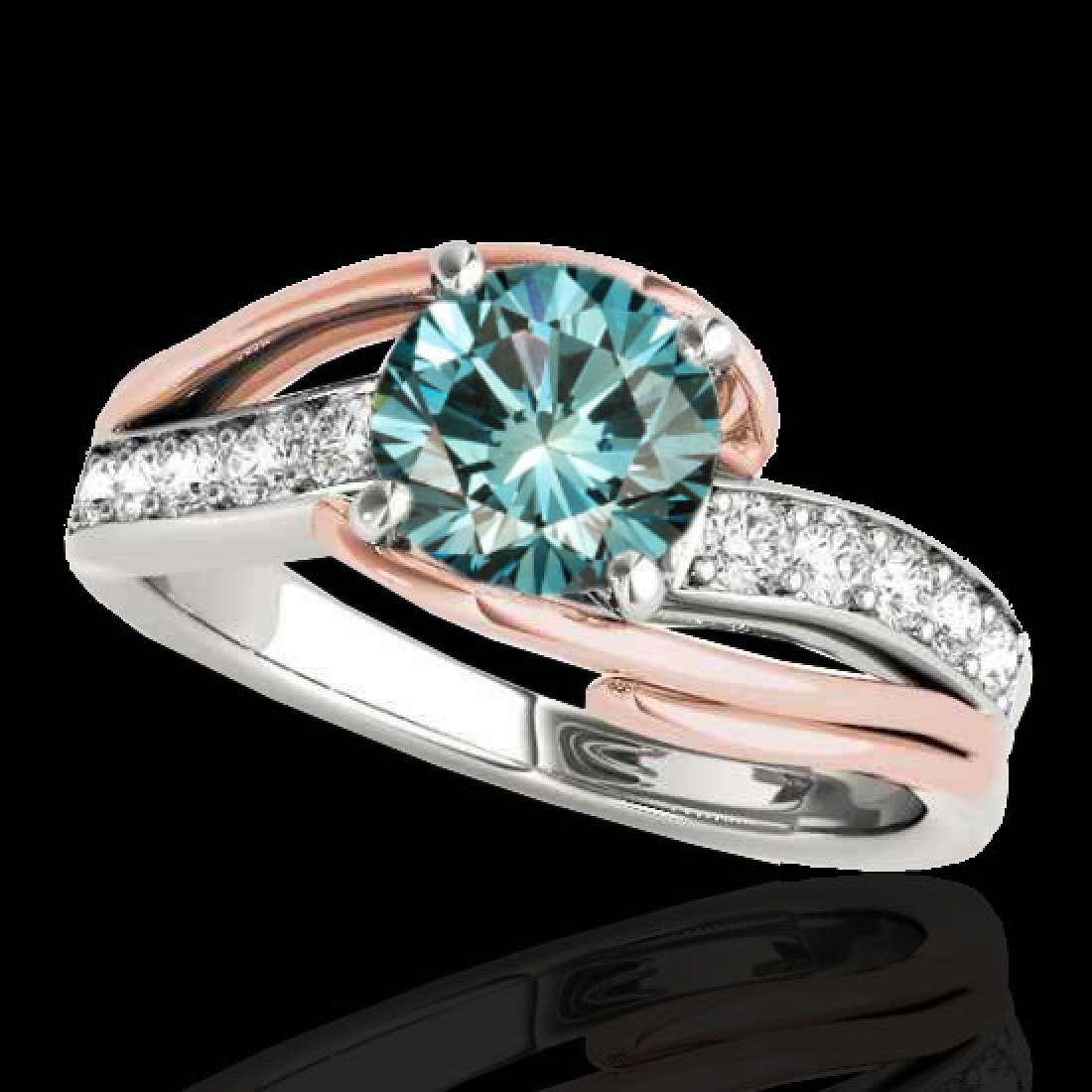 1.5 CTW SI Certified Fancy Blue Diamond Bypass
