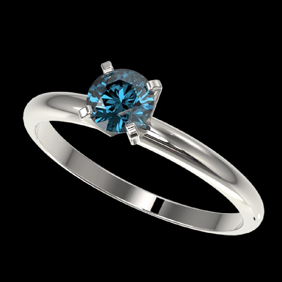 0.55 CTW Certified Intense Blue SI Diamond Solitaire