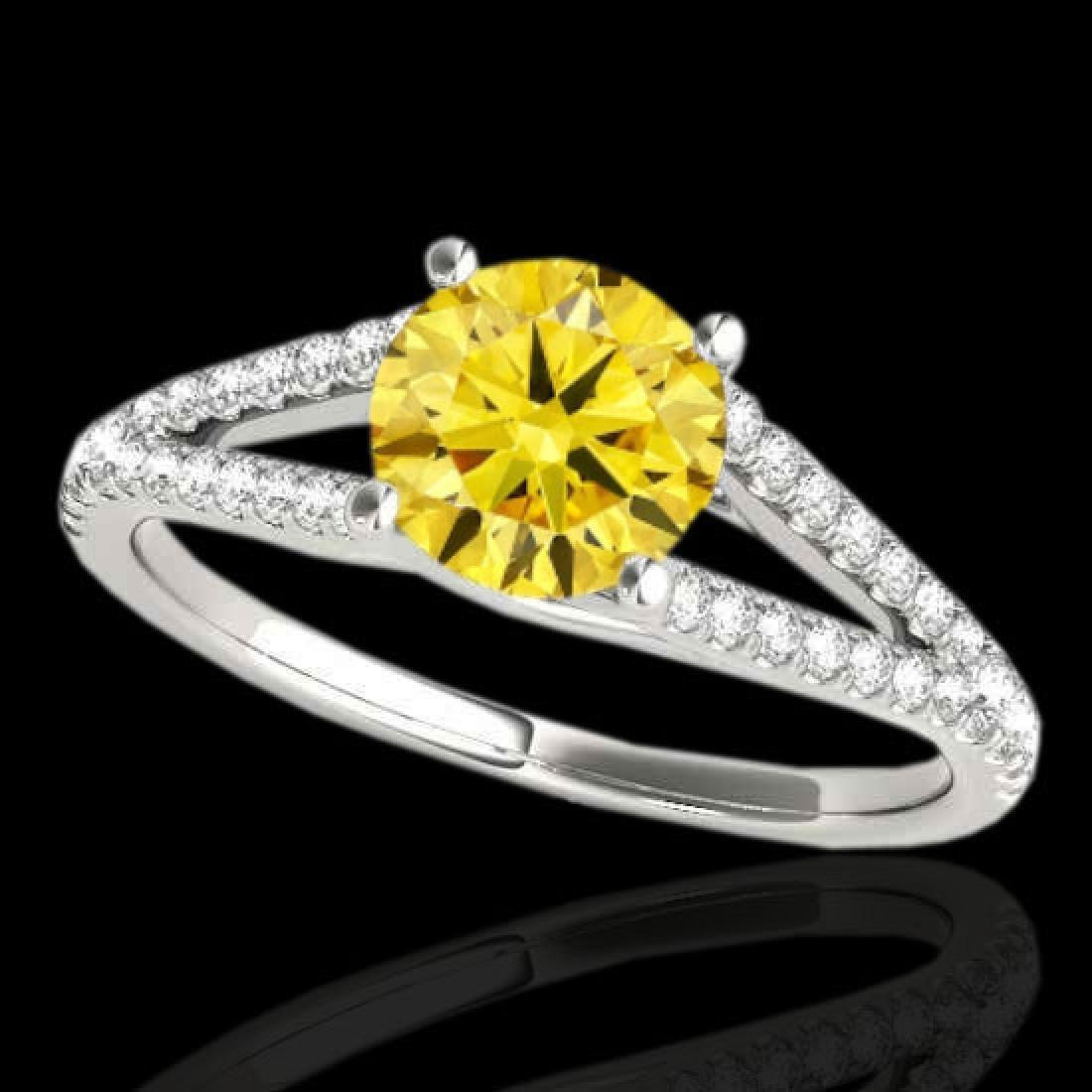 1.75 CTW Certified SI/I Fancy Intense Yellow Diamond