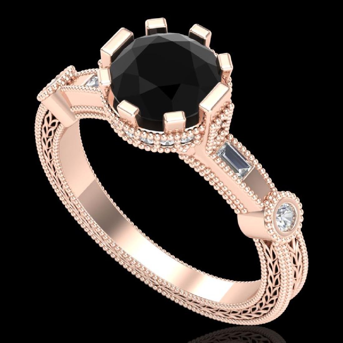 1.71 CTW Fancy Black Diamond Solitaire Engagement Art