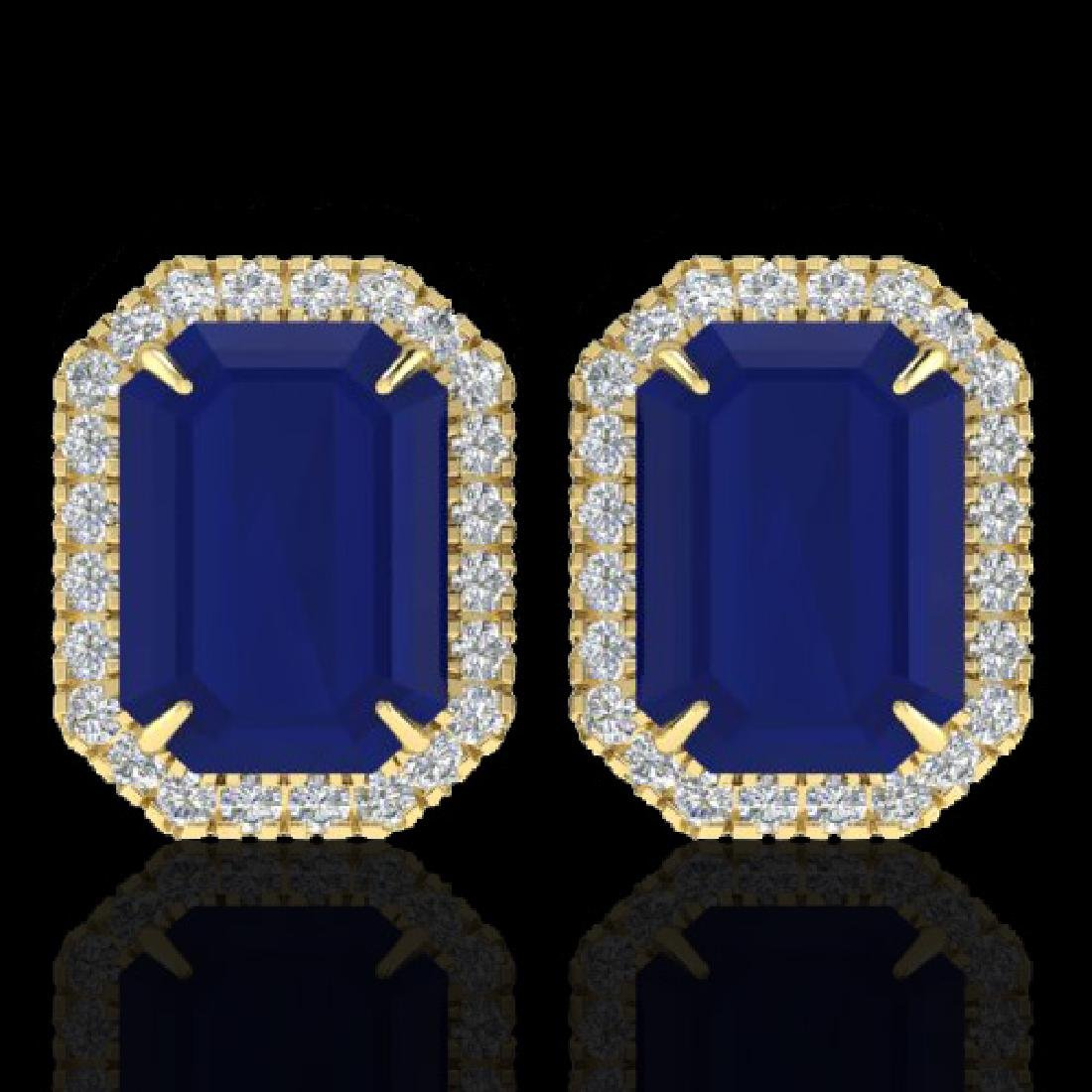 14 CTW Sapphire And Micro Pave VS/SI Diamond Halo