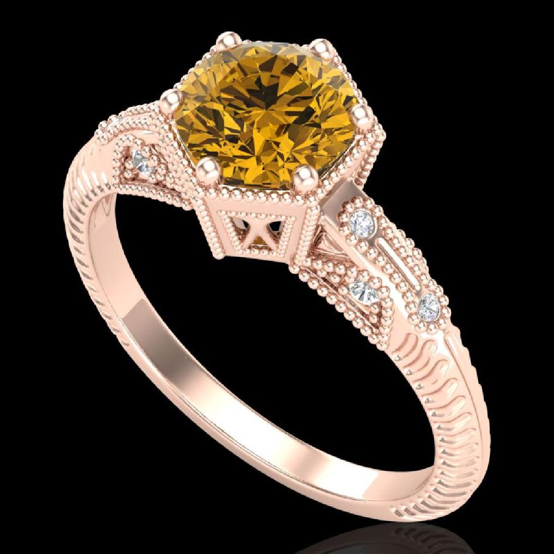 1.17 CTW Intense Fancy Yellow Diamond Engagement Art