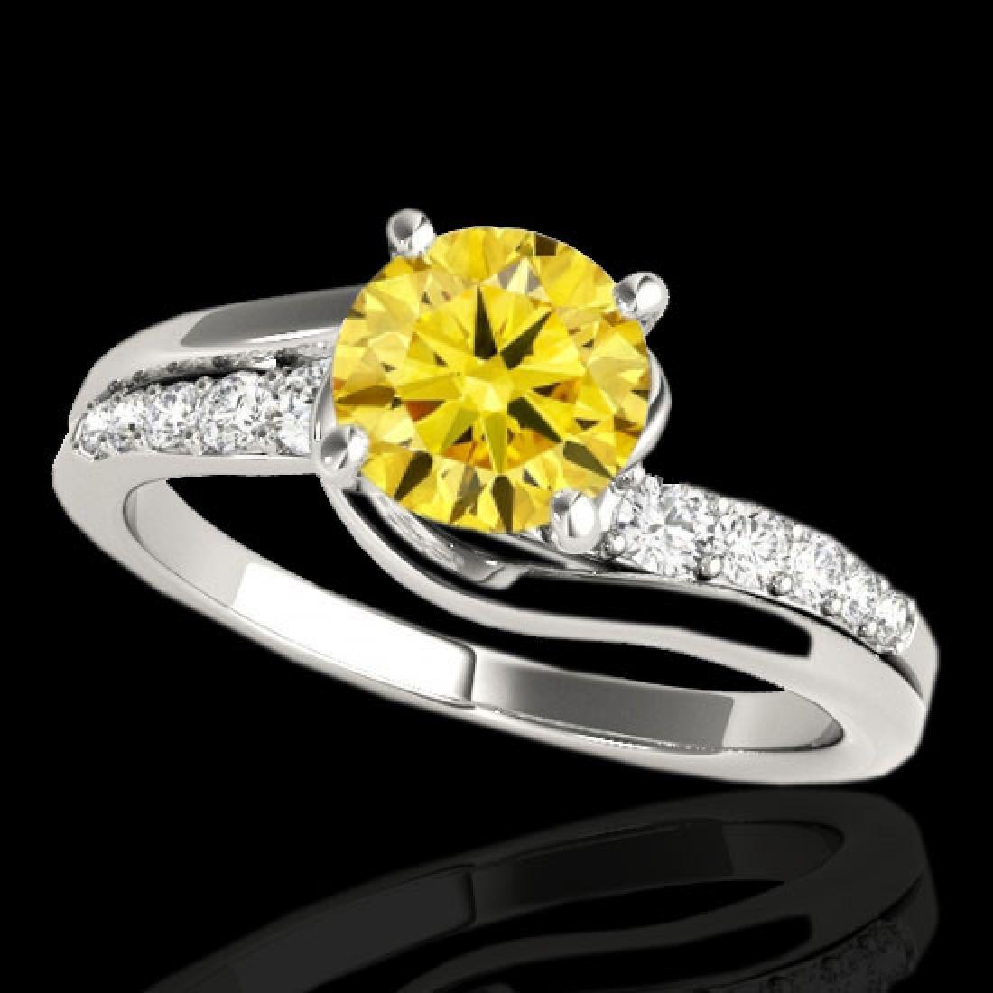 1.31 CTW Certified Si Intense Yellow Diamond Bypass