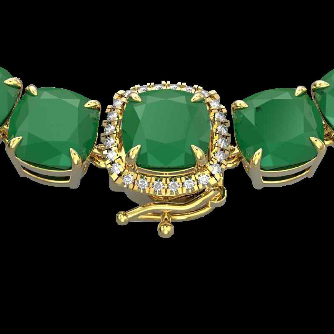 116 CTW Emerald & VS/SI Diamond Halo Micro Solitaire