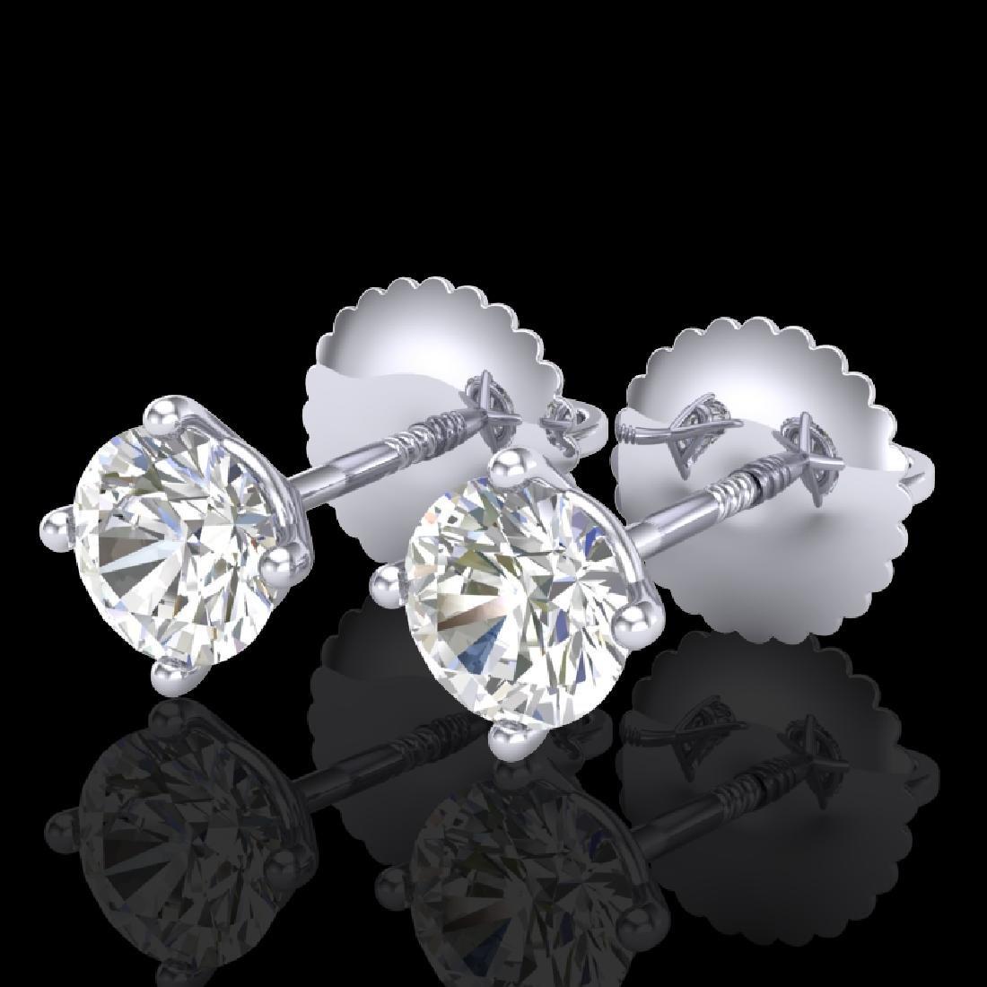 0.65 CTW VS/SI Diamond Solitaire Art Deco Stud Earrings