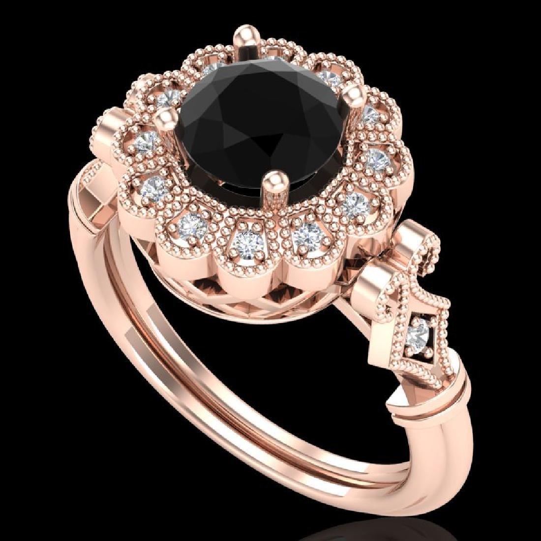 1.2 CTW Fancy Black Diamond Solitaire Engagement Art