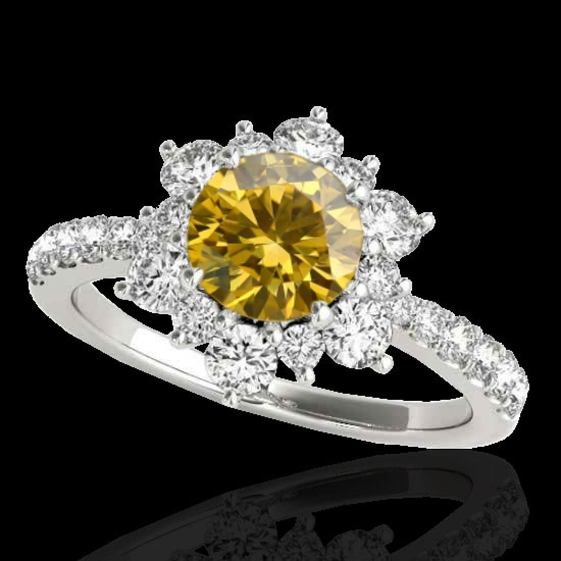 2.19 CTW Certified SI/I Fancy Intense Yellow Diamond