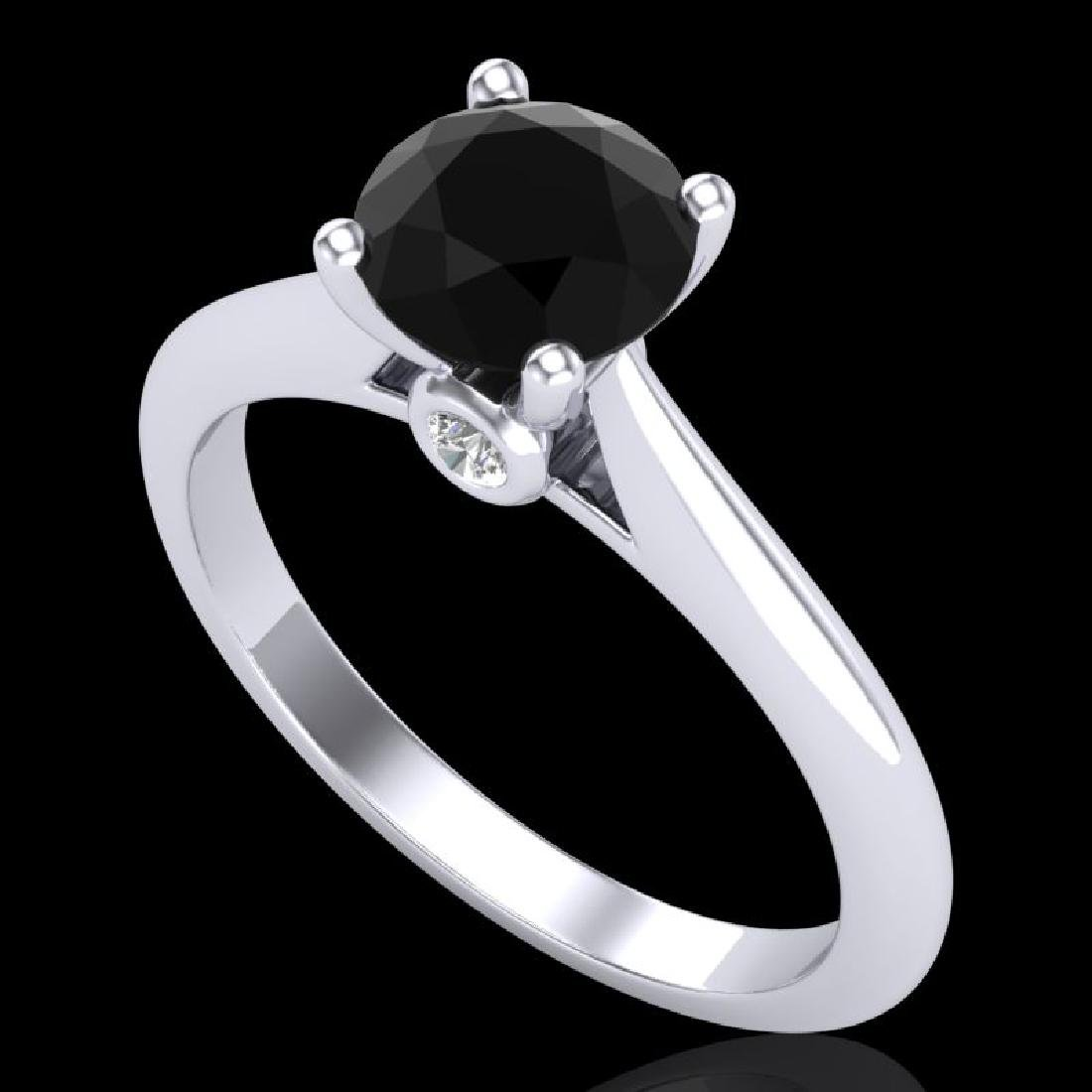 1.08 CTW Fancy Black Diamond Solitaire Engagement Art