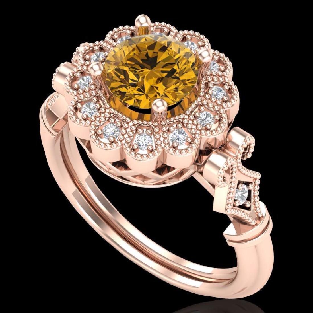 1.2 CTW Intense Fancy Yellow Diamond Engagement Art