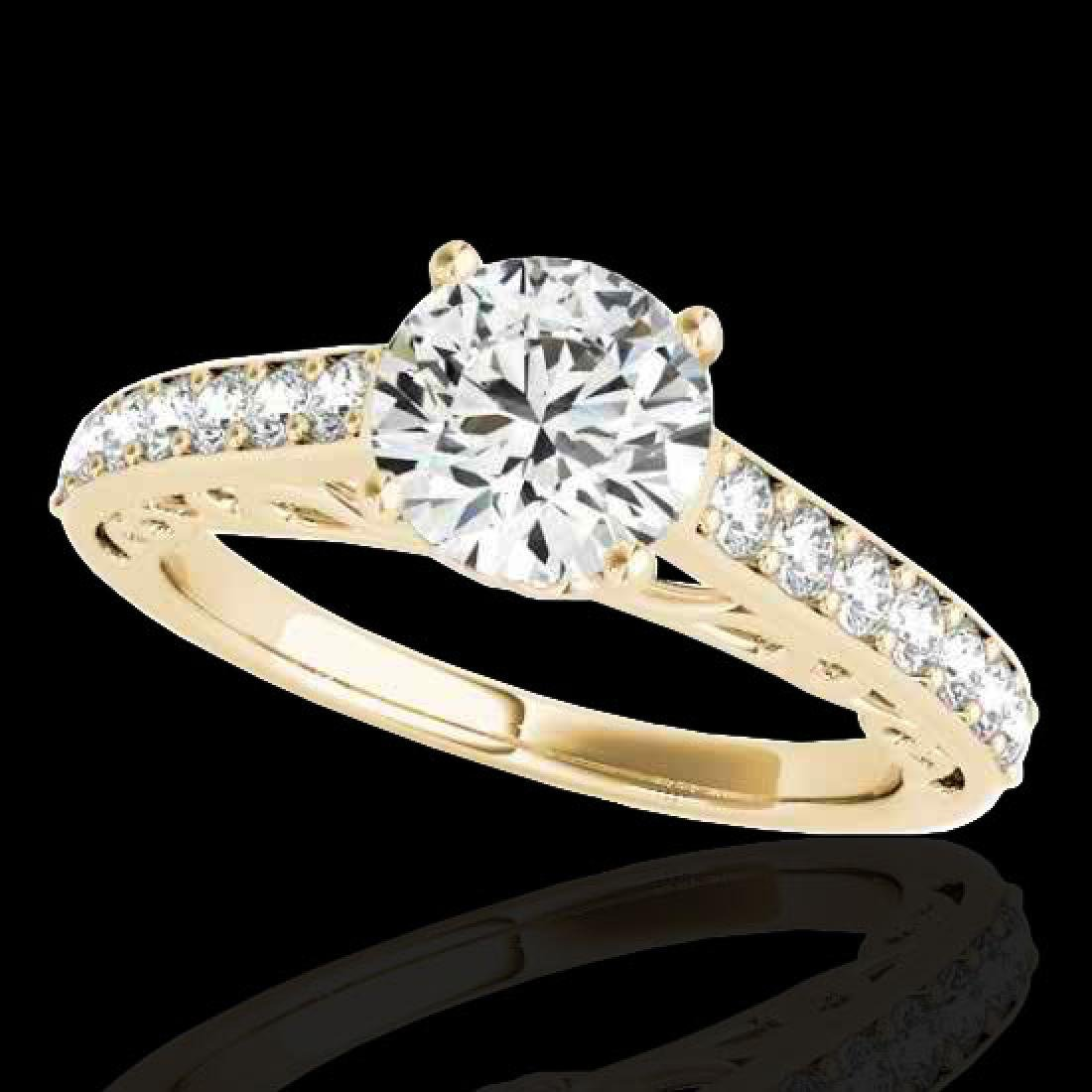 1.65 CTW H-SI/I Certified Diamond Solitaire Ring 10K