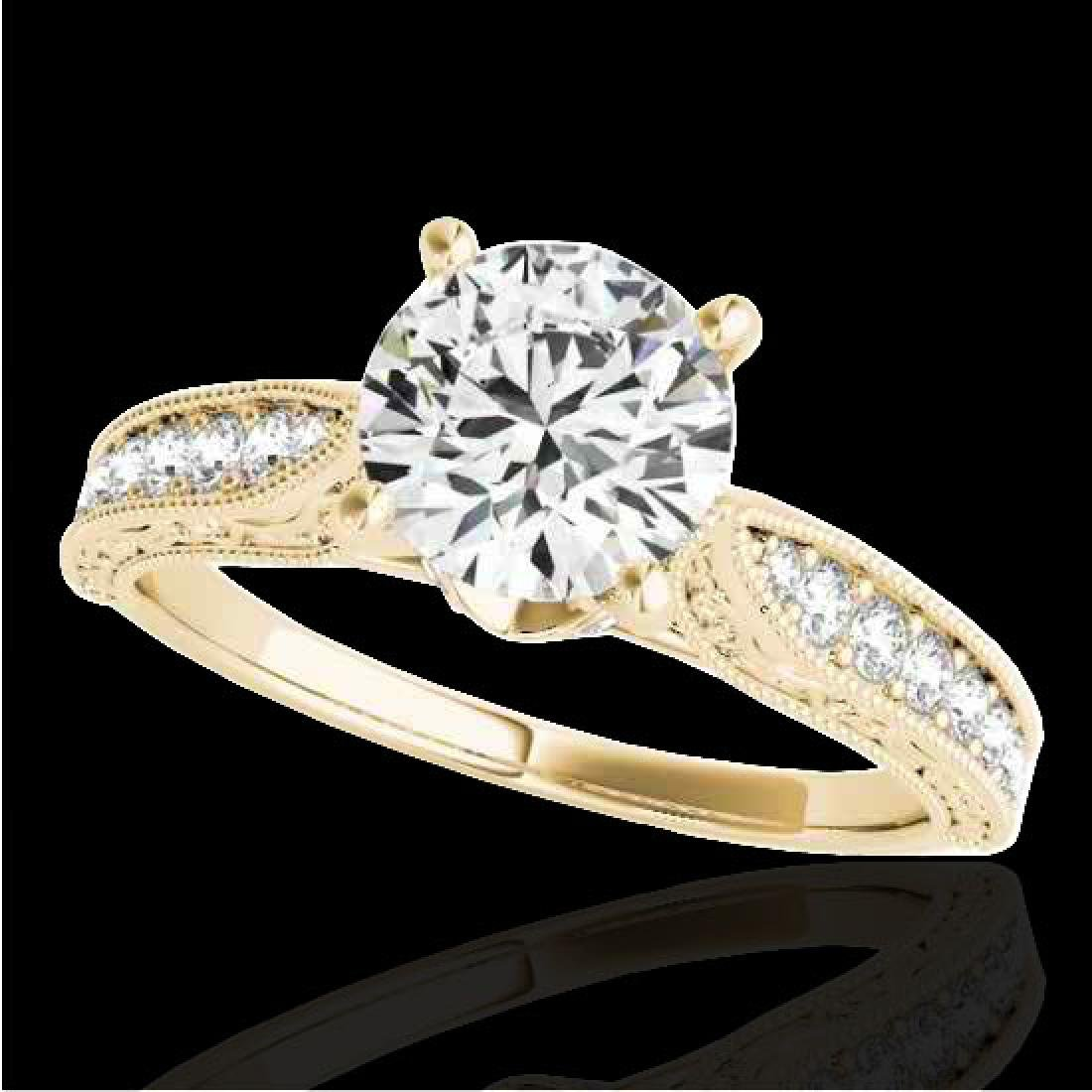 1.21 CTW H-SI/I Certified Diamond Solitaire Antique