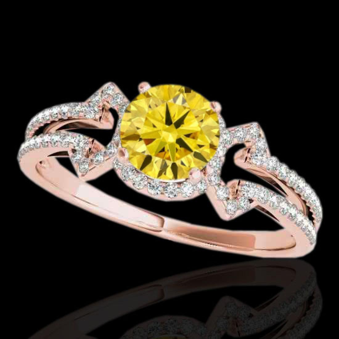 1.36 CTW Certified SI/I Fancy Intense Yellow Diamond