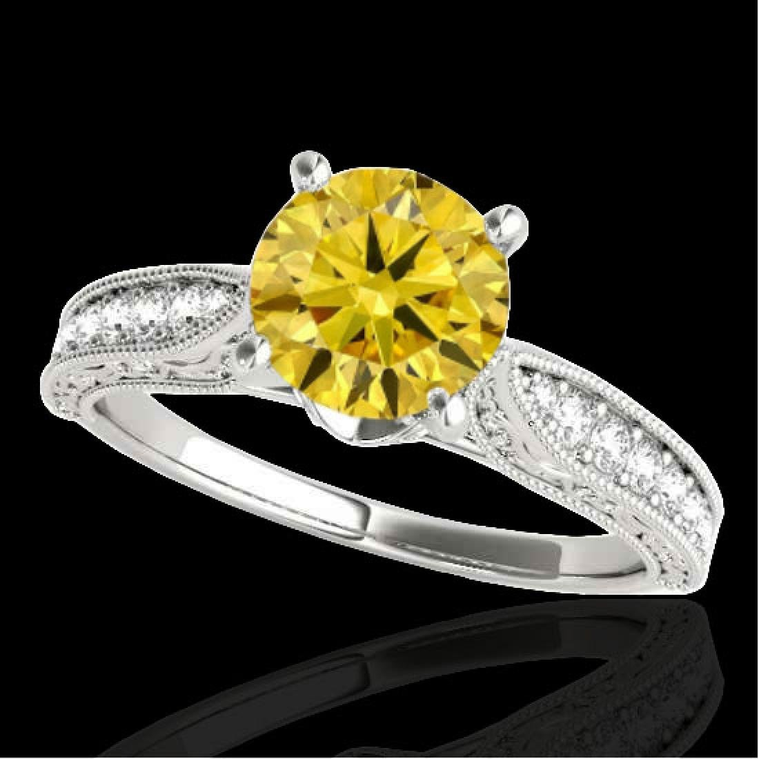 1.21 CTW Certified Si Intense Yellow Diamond Solitaire