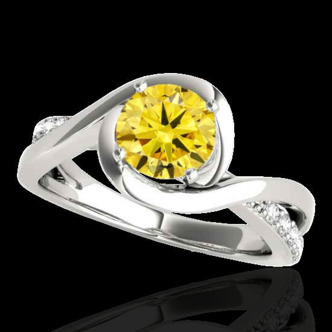 1.15 CTW Certified SI/I Fancy Intense Yellow Diamond