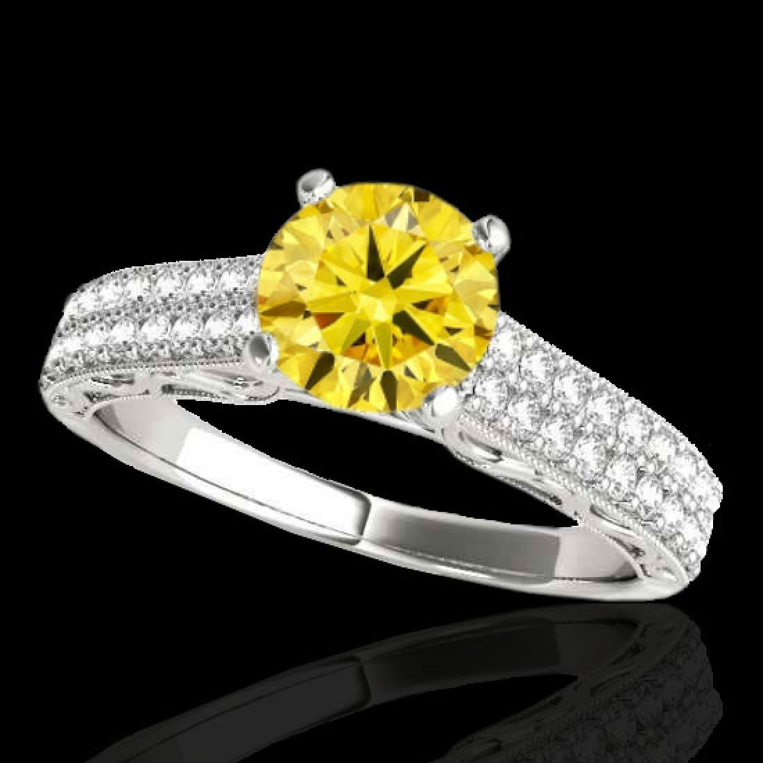 1.41 CTW Certified Si Intense Yellow Diamond Solitaire