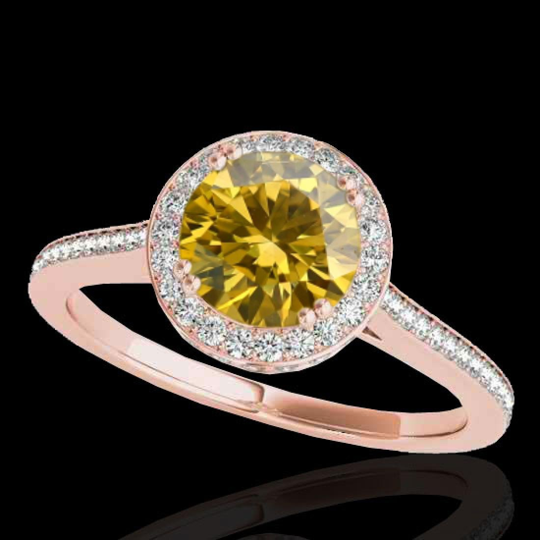2.03 CTW Certified SI/I Fancy Intense Yellow Diamond