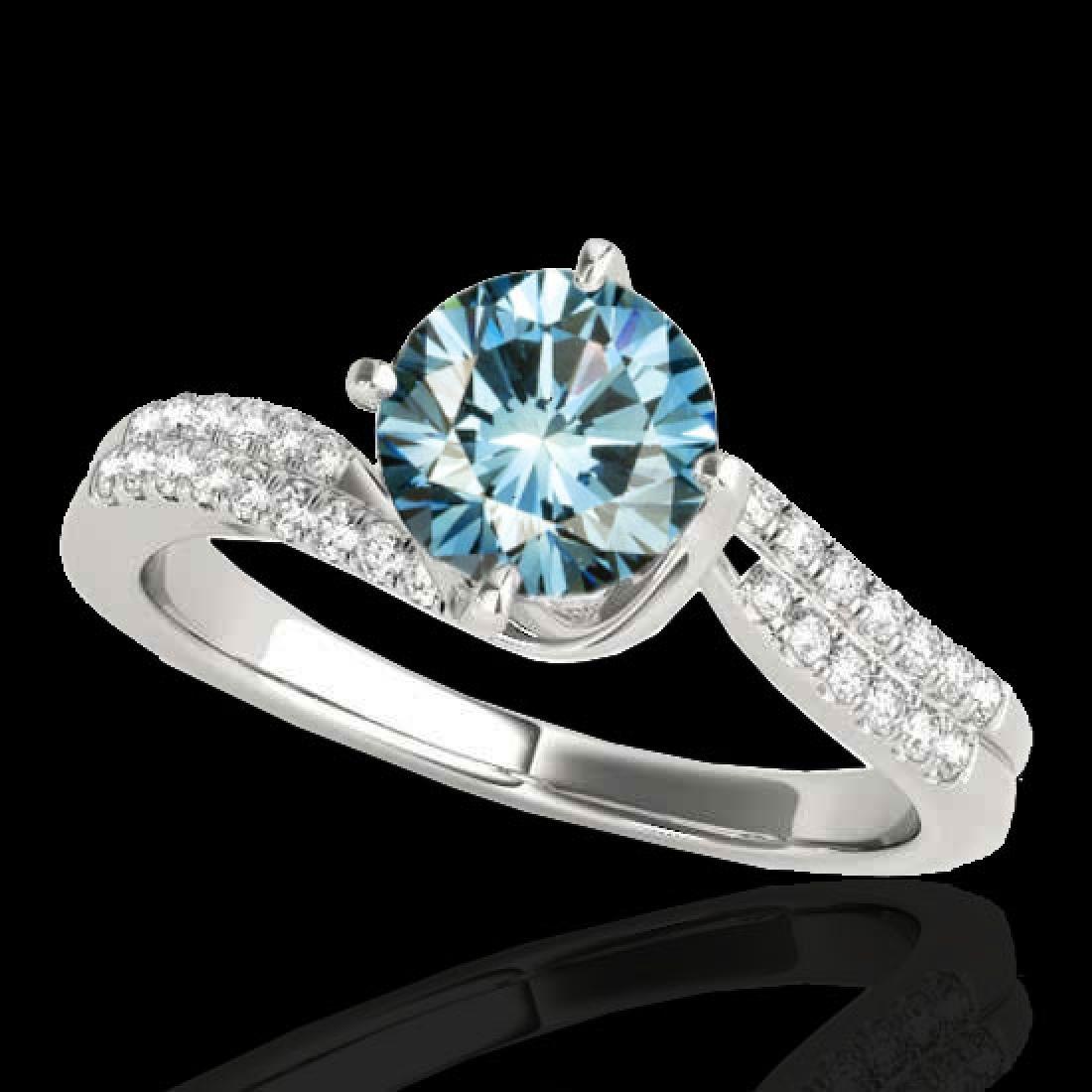 1.2 CTW SI Certified Fancy Blue Diamond Bypass