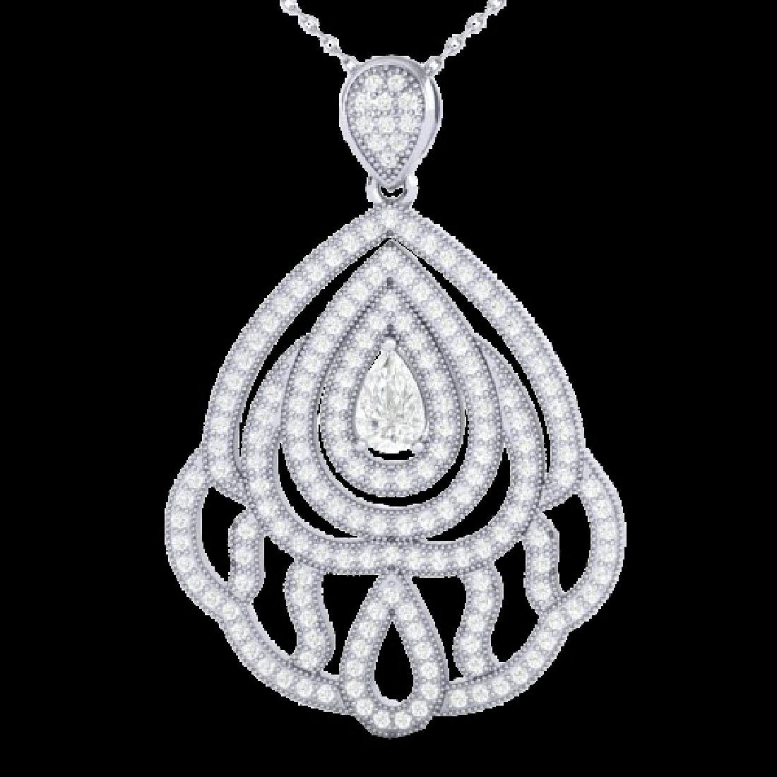 2 CTW Micro Pave VS/SI Diamond Designer necklace 18K