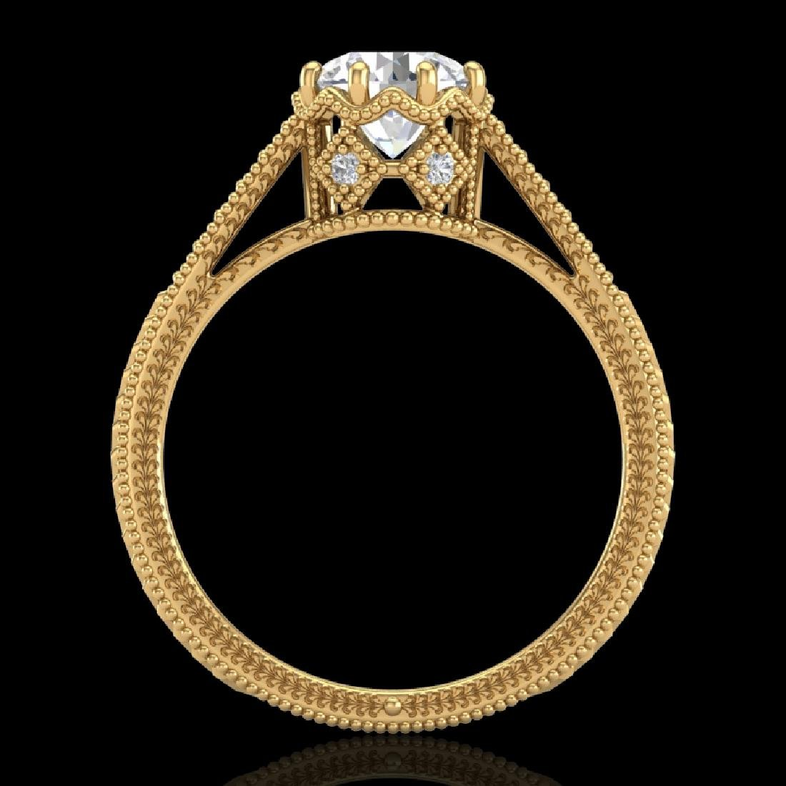 1.25 CTW VS/SI Diamond Art Deco Ring 18K Yellow Gold