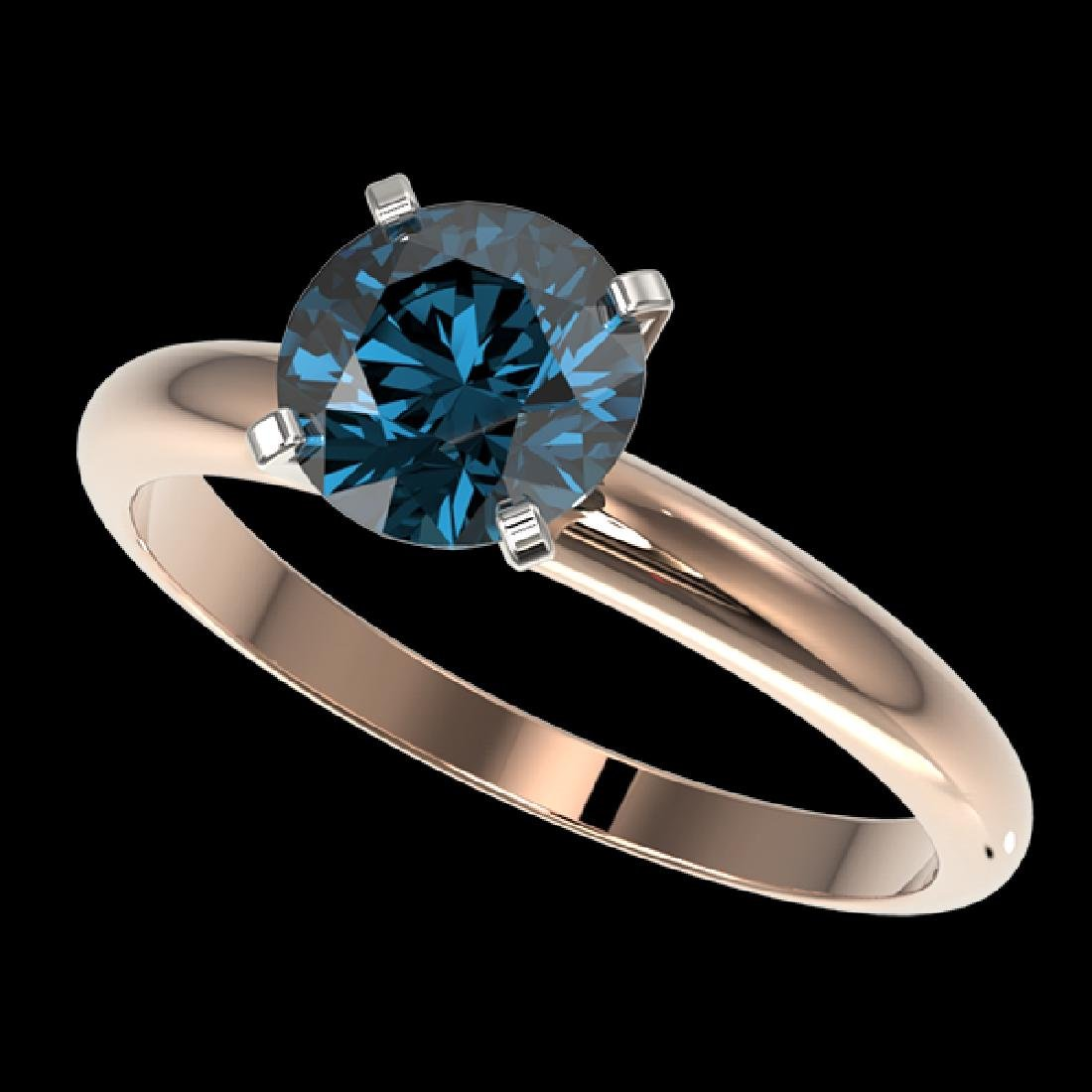 1.47 CTW Certified Intense Blue SI Diamond Solitaire