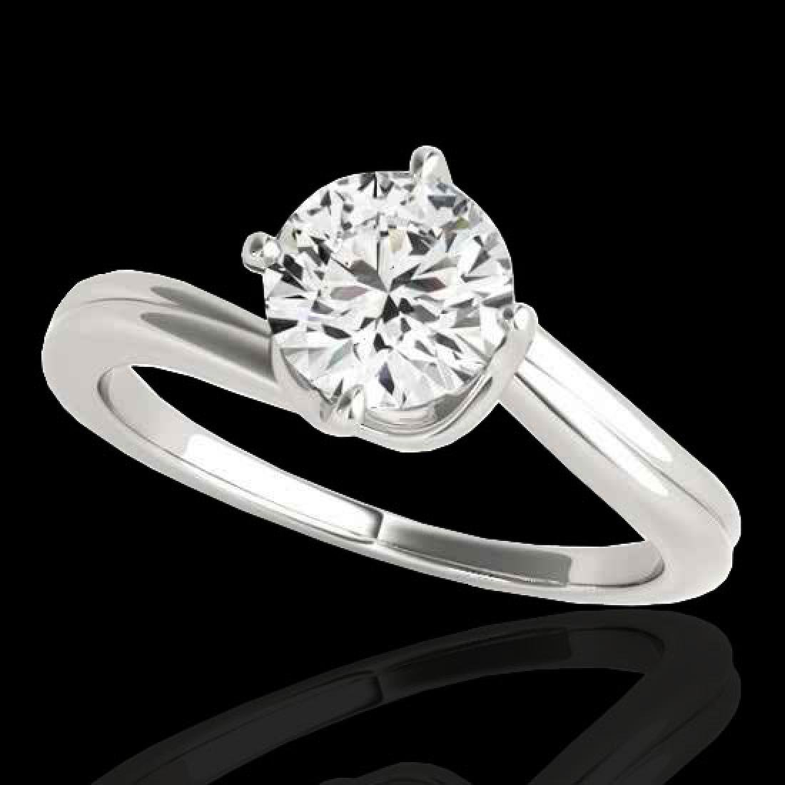 1 CTW H-SI/I Certified Diamond Bypass Solitaire Ring