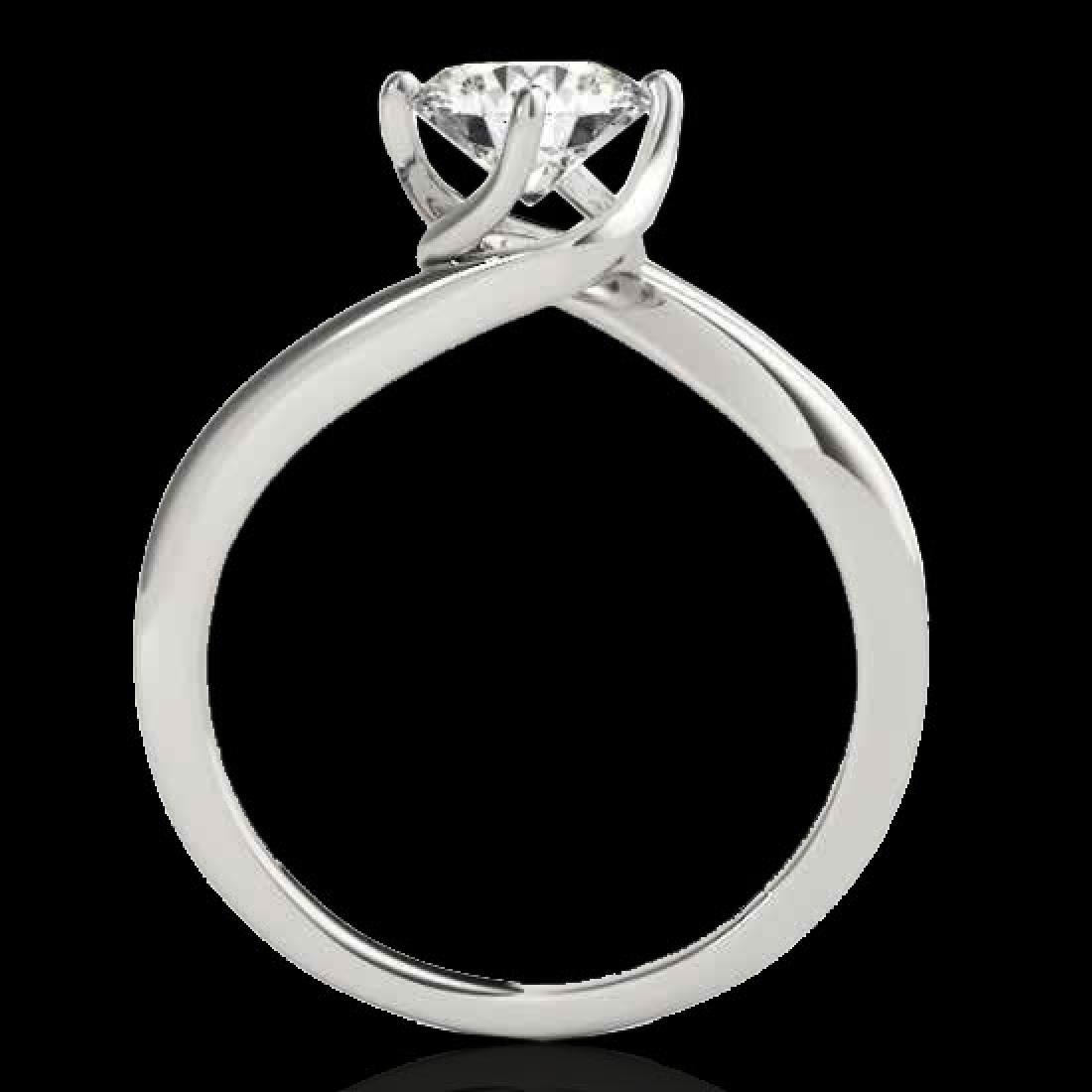 1 CTW H-SI/I Certified Diamond Bypass Solitaire Ring - 2