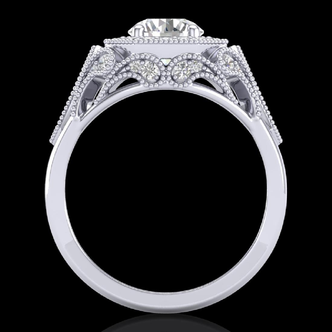 1.75 CTW VS/SI Diamond Solitaire Art Deco Ring 18K