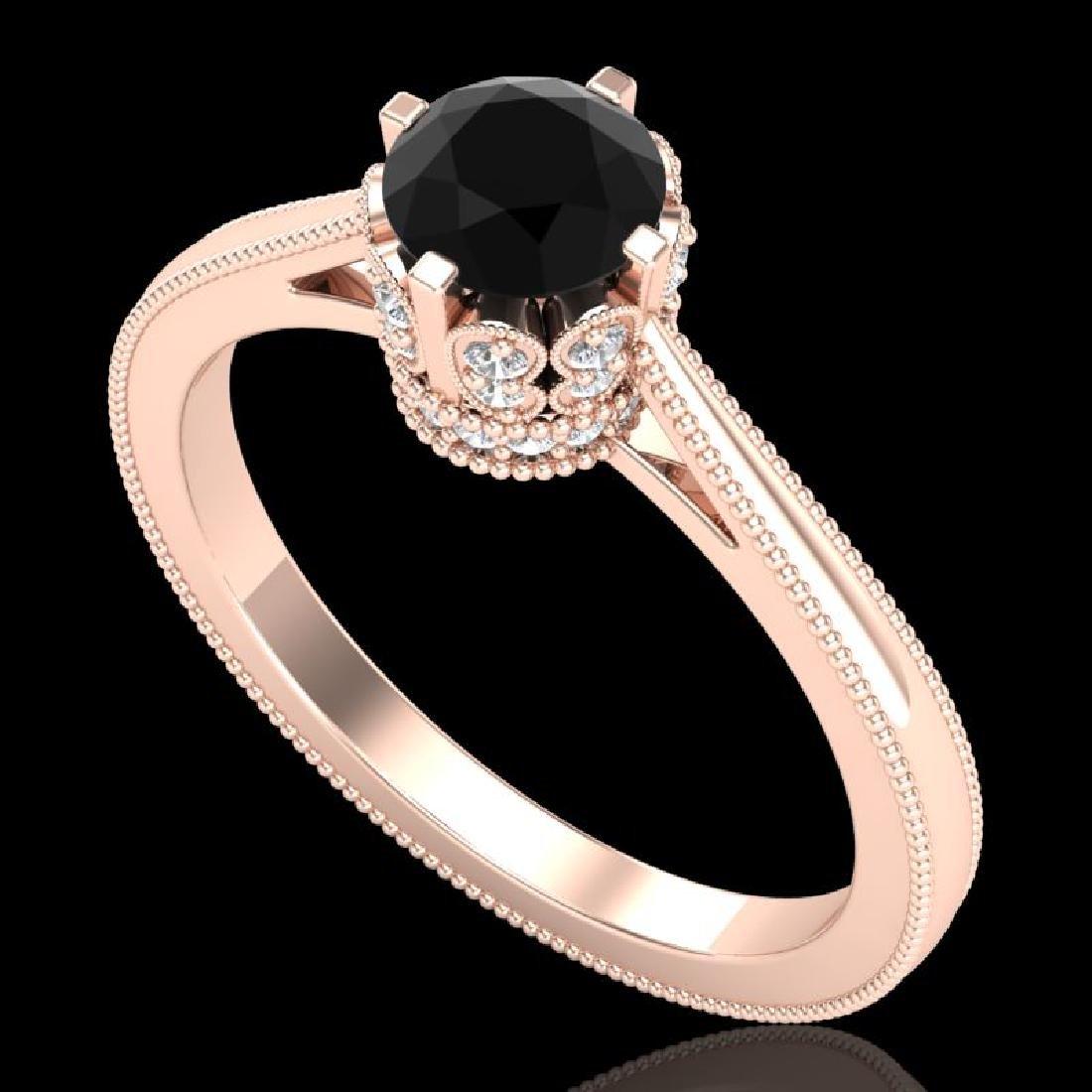 0.81 CTW Fancy Black Diamond Solitaire Engagement Art