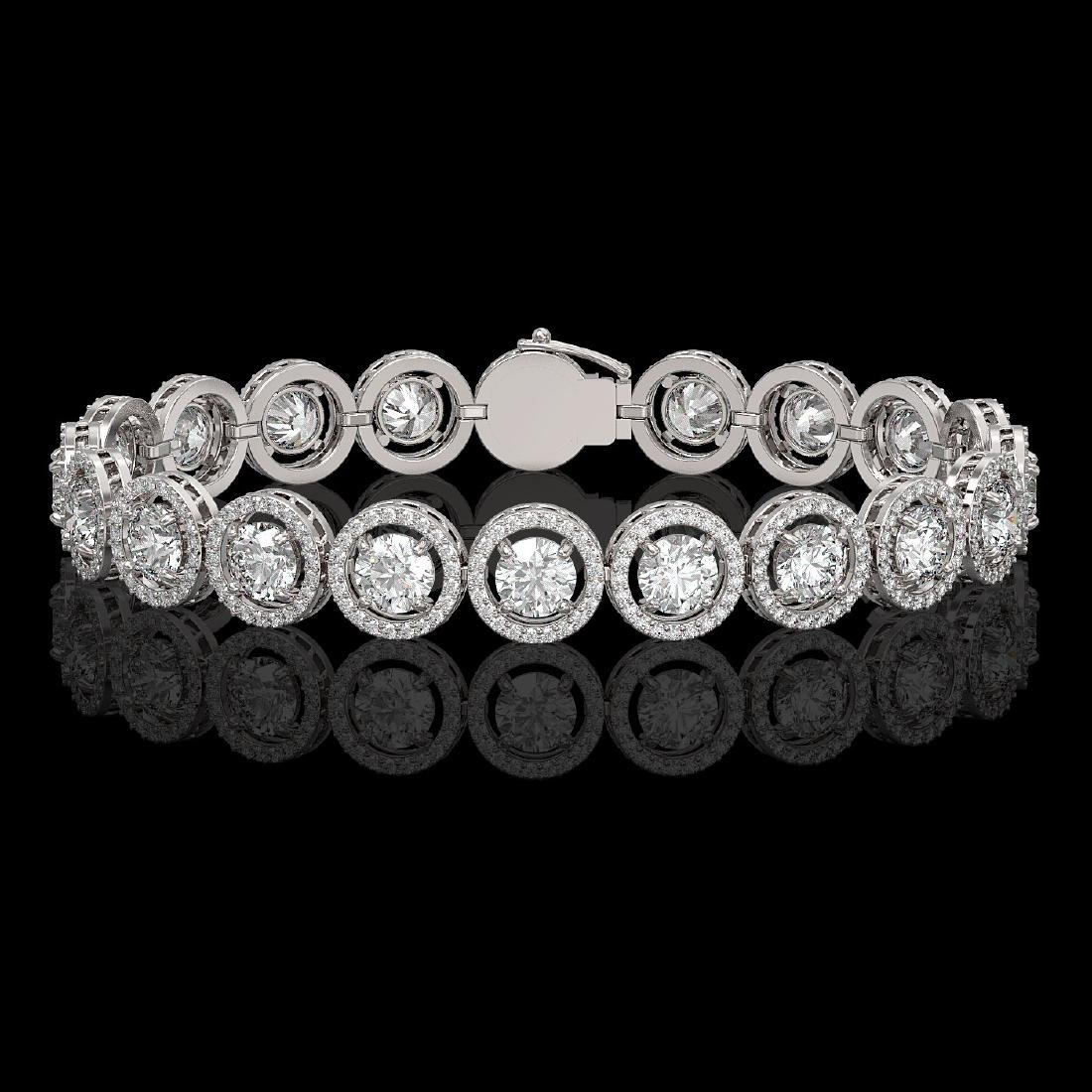 13.42 CTW Diamond Designer Bracelet 18K White Gold