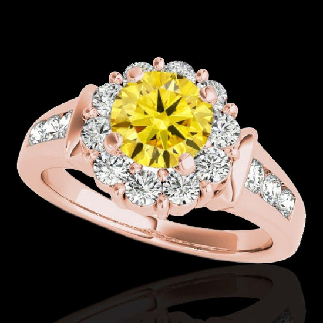 1.9 CTW Certified SI/I Fancy Intense Yellow Diamond