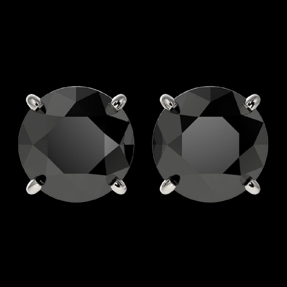 2.60 CTW Fancy Black VS Diamond Solitaire Stud Earrings