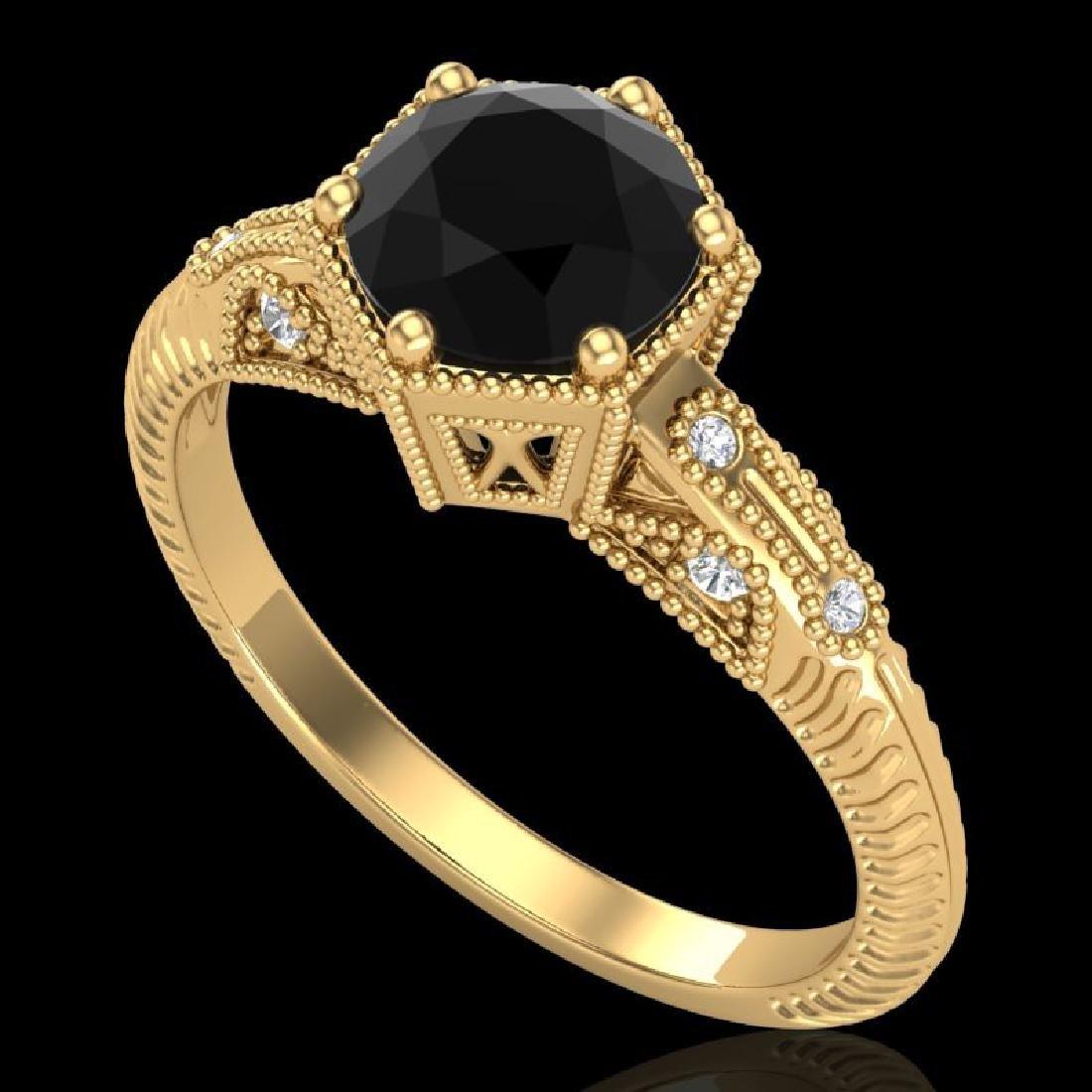 1.17 CTW Fancy Black Diamond Solitaire Engagement Art