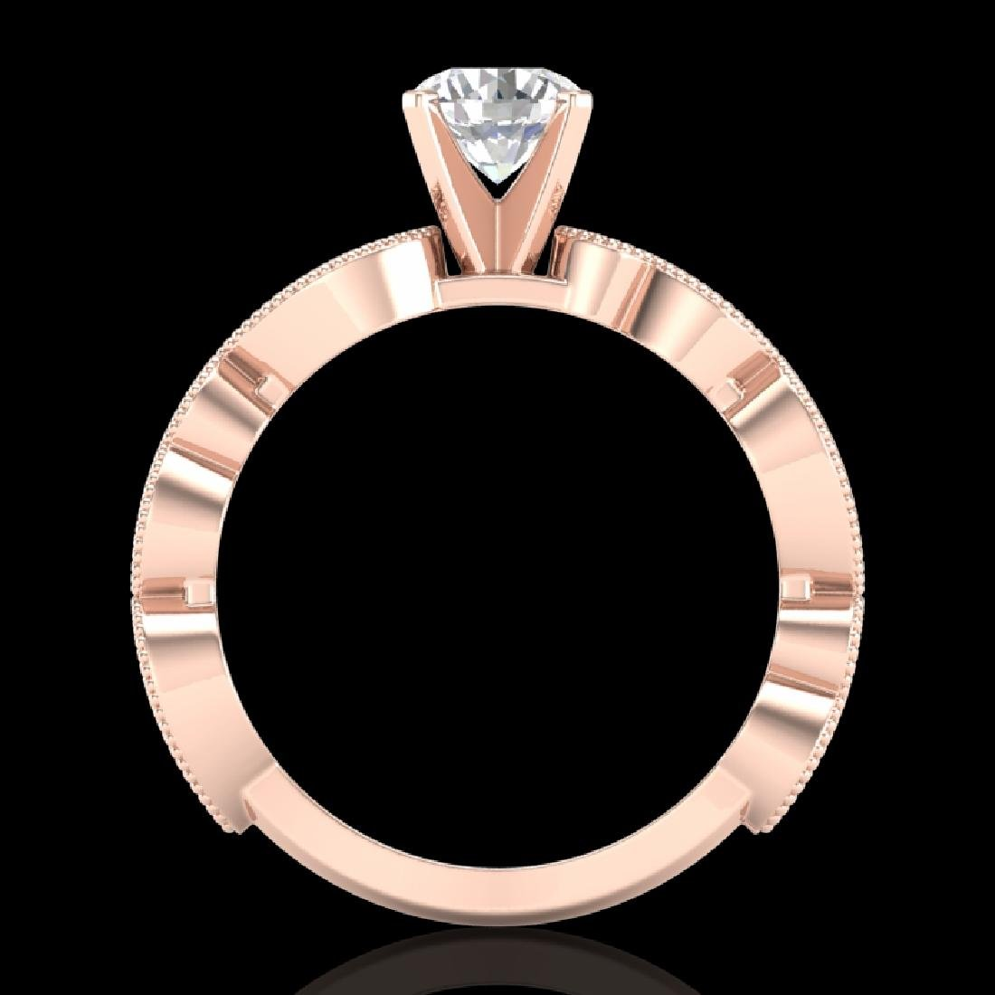 1.01 CTW VS/SI Diamond Solitaire Art Deco Ring 18K Rose