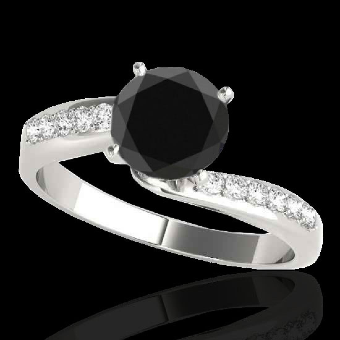 1.15 CTW Certified VS Black Diamond Bypass Solitaire