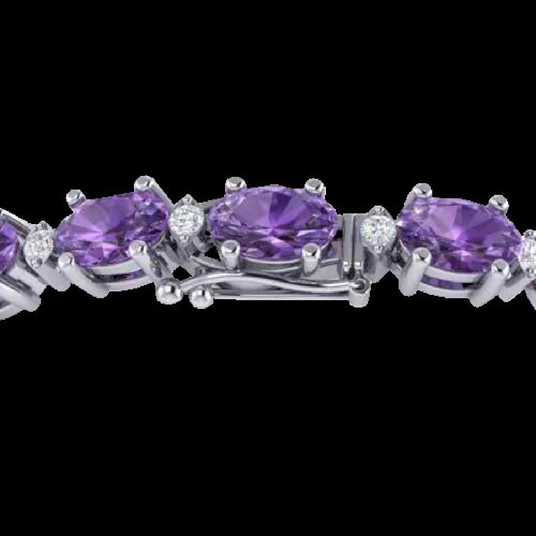 25.8 CTW Amethyst & VS/SI Certified Diamond Eternity
