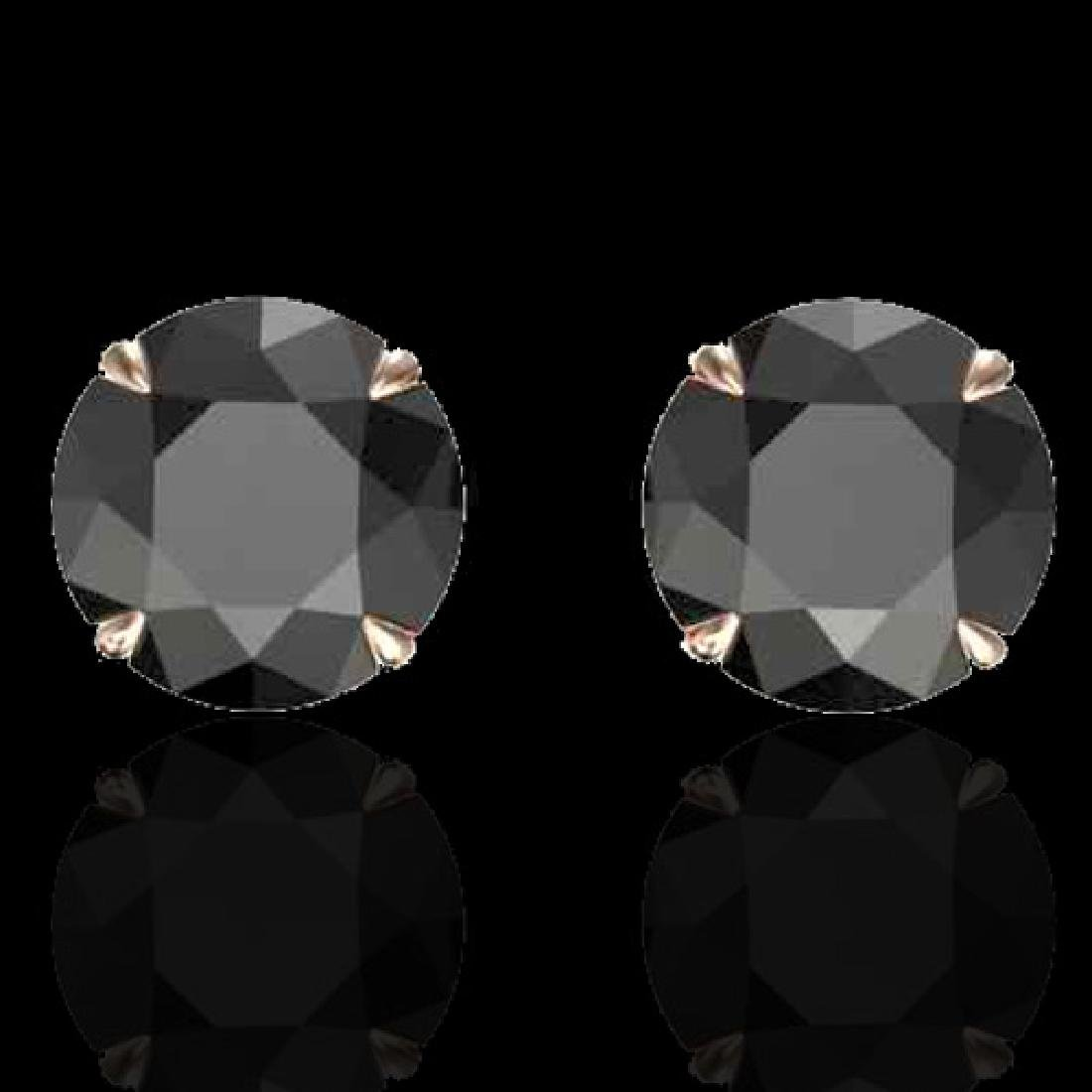 4 CTW Black VS/SI Diamond Designer Inspired Stud