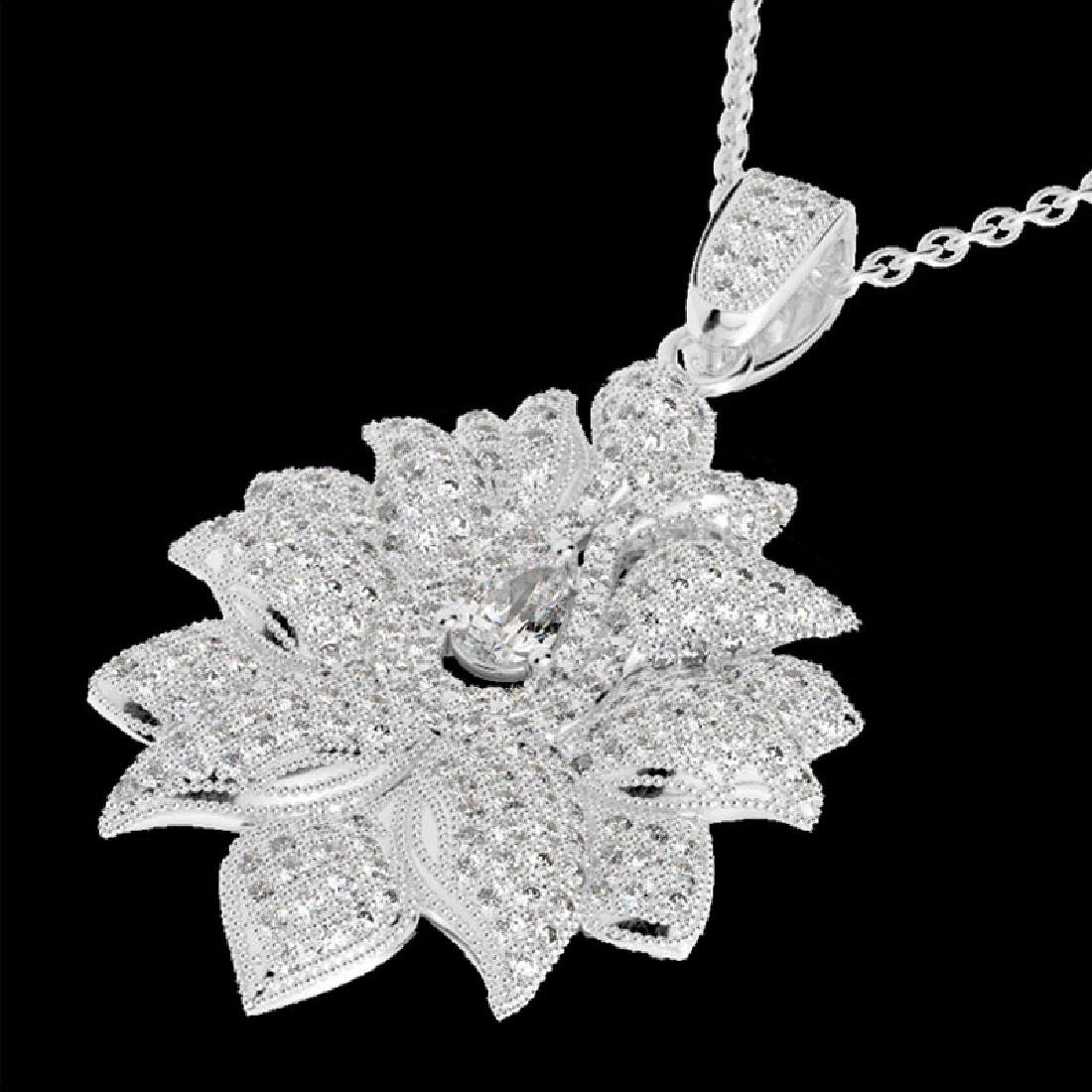 3 CTW Micro Pave VS/SI Diamond Designer Necklace 18K
