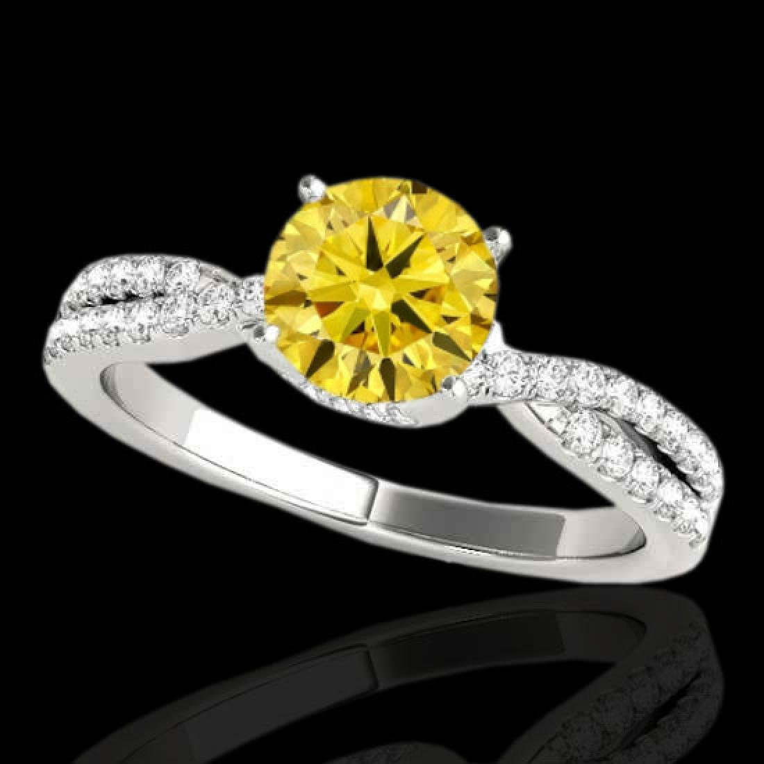 1.3 CTW Certified SI/I Fancy Intense Yellow Diamond