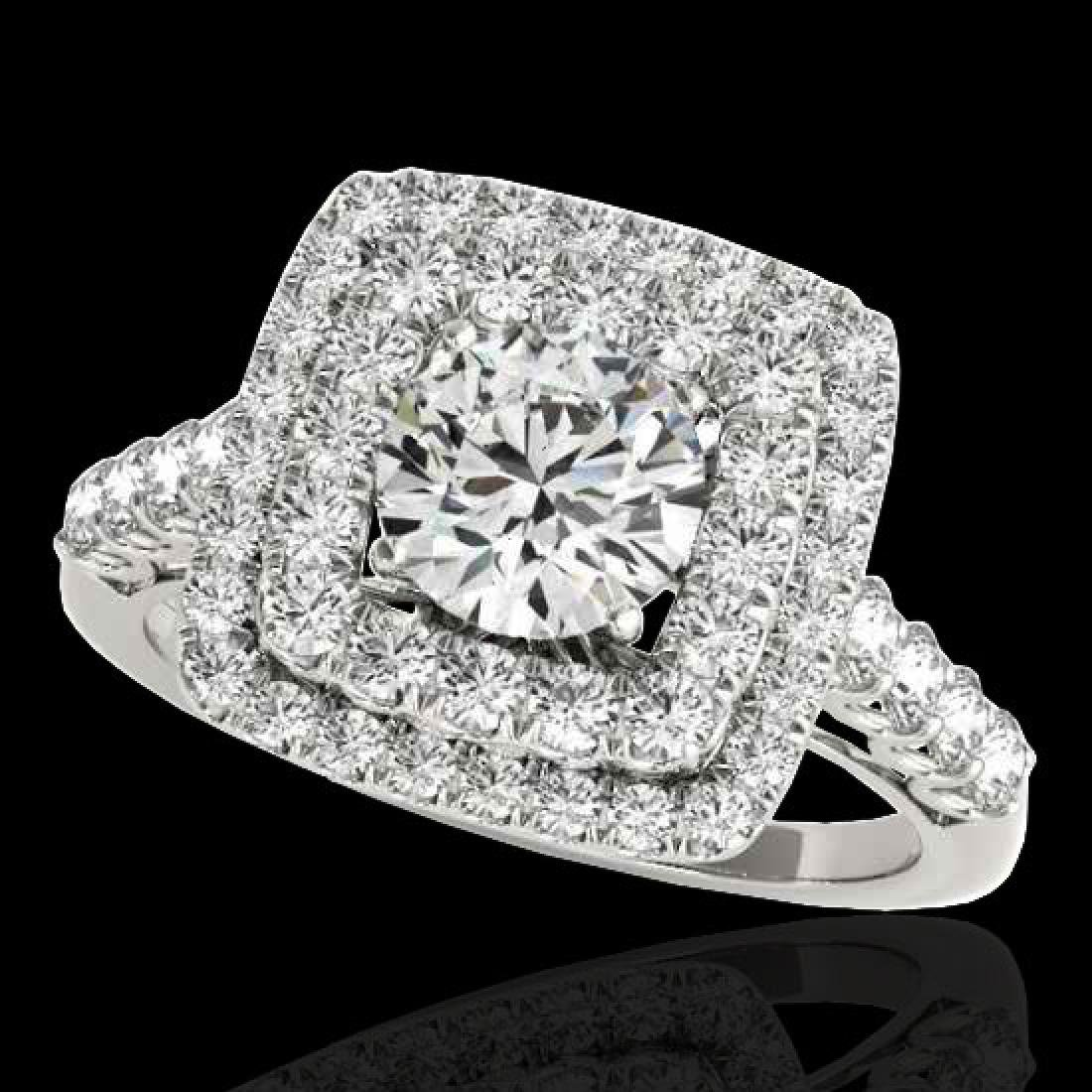 2.3 CTW H-SI/I Certified Diamond Solitaire Halo Ring