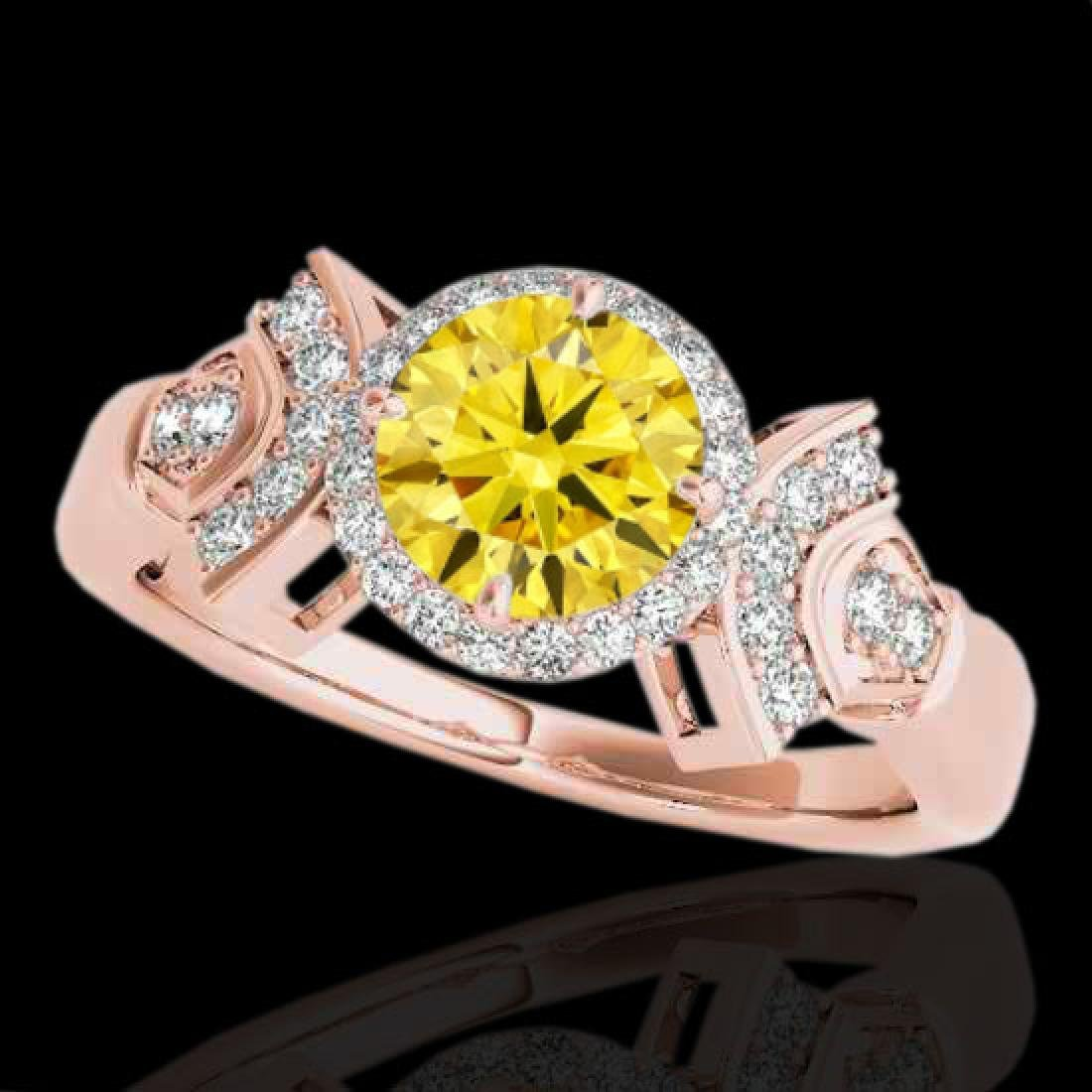 1.56 CTW Certified SI/I Fancy Intense Yellow Diamond