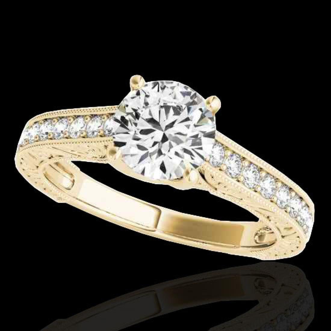 1.32 CTW H-SI/I Certified Diamond Solitaire Ring 10K