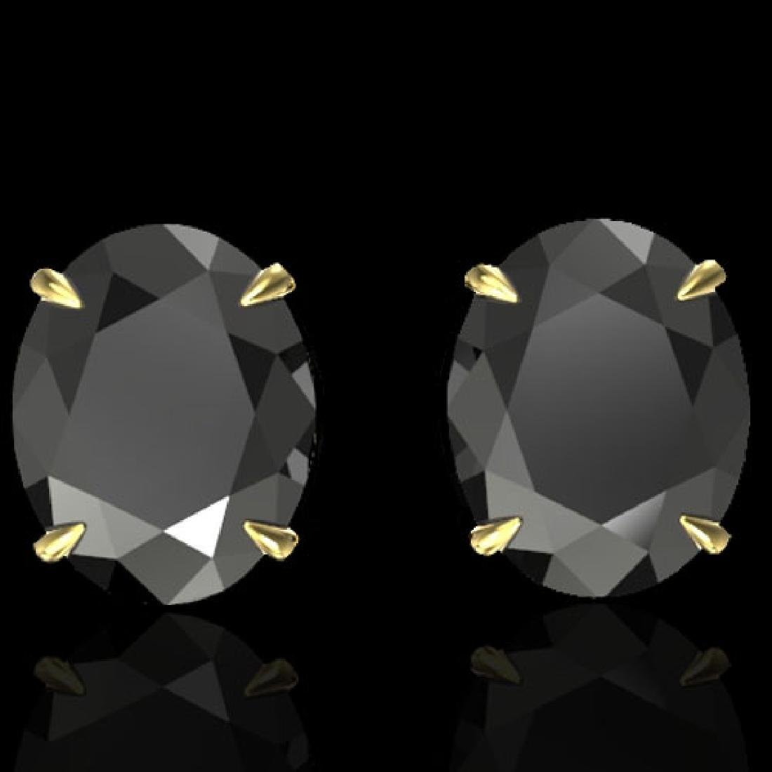 10 CTW Black VS/SI Diamond Designer Solitaire Stud