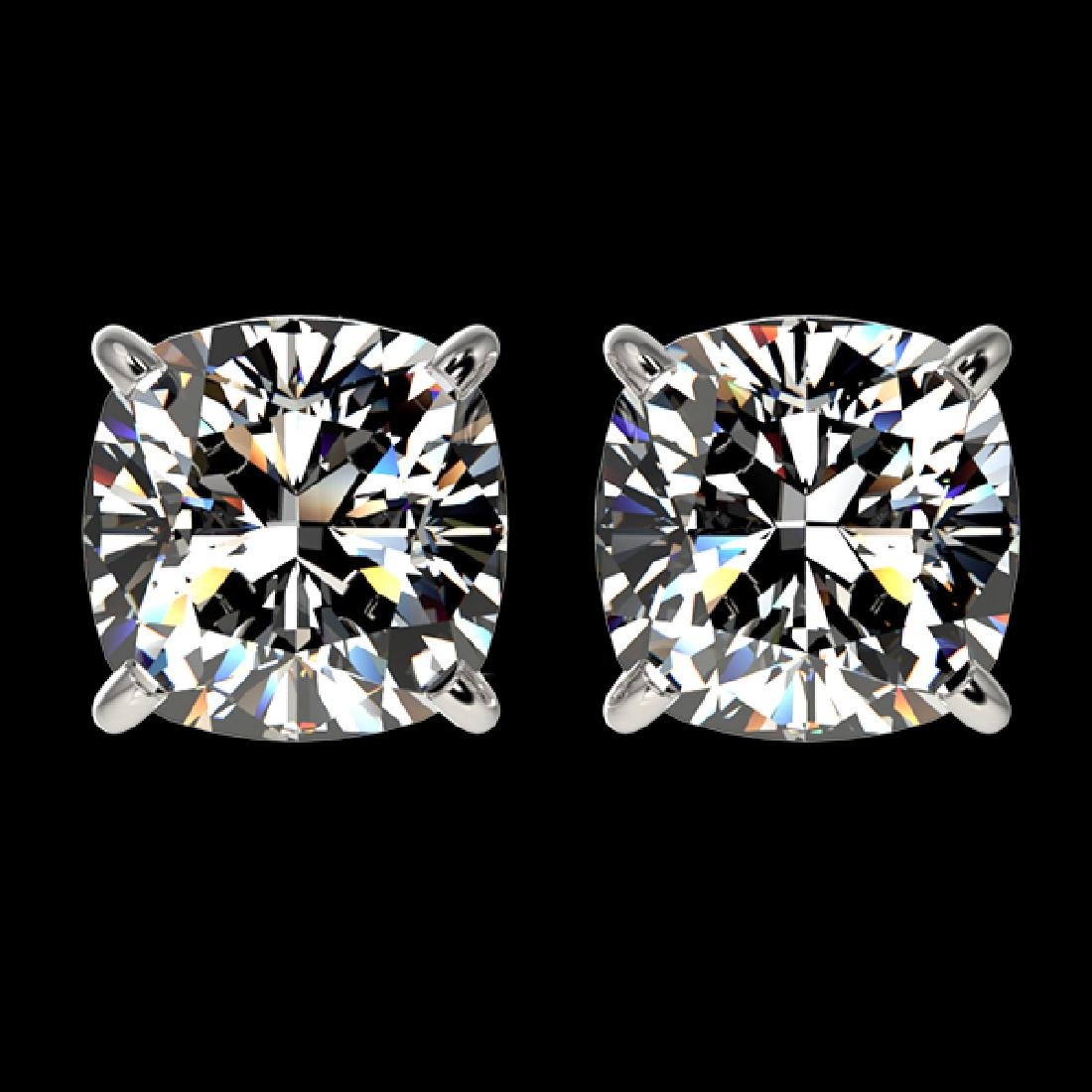 2 CTW Certified VS/SI Quality Cushion Cut Diamond Stud