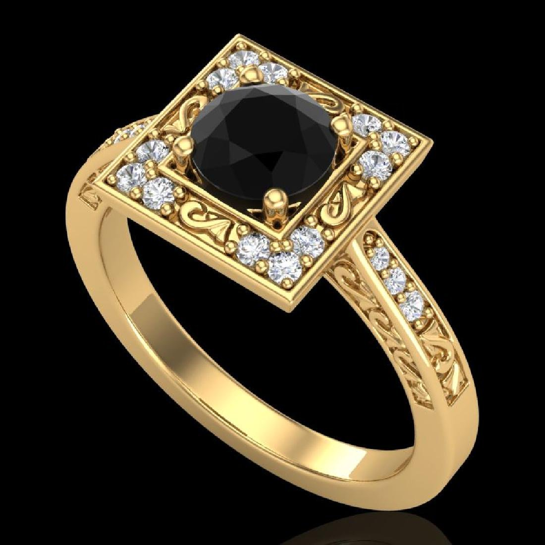 1.1 CTW Fancy Black Diamond Solitaire Engagement Art