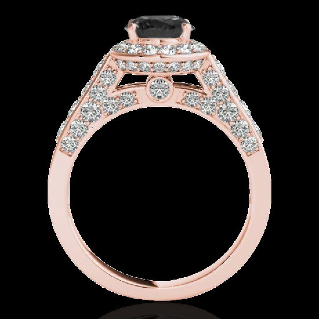2.56 CTW Certified VS Black Diamond Solitaire Halo Ring - 2