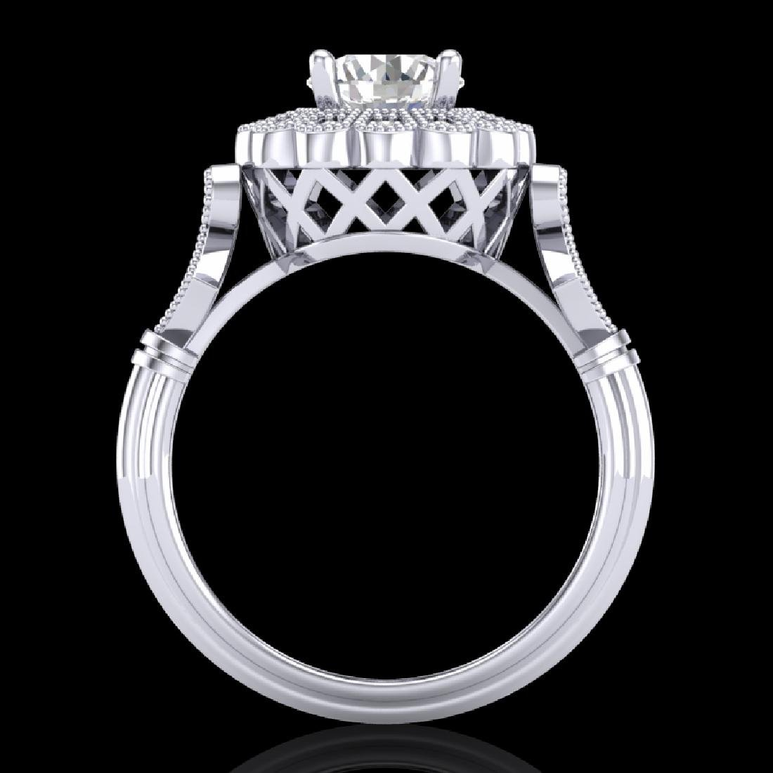 1.2 CTW VS/SI Diamond Solitaire Art Deco Ring 18K White