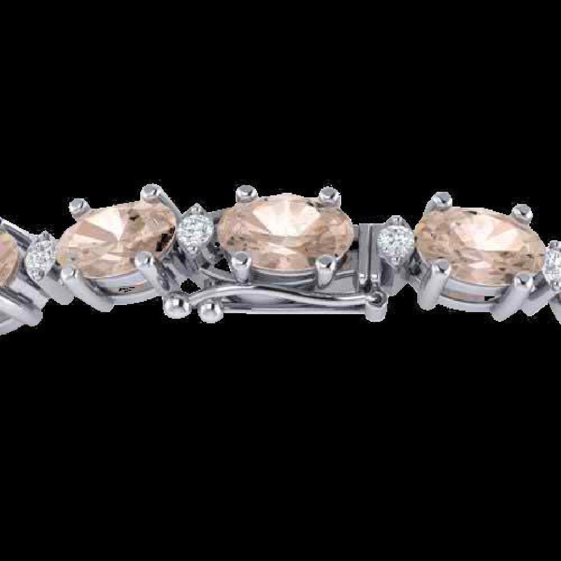 18.75 CTW Morganite & VS/SI Certified Diamond Eternity