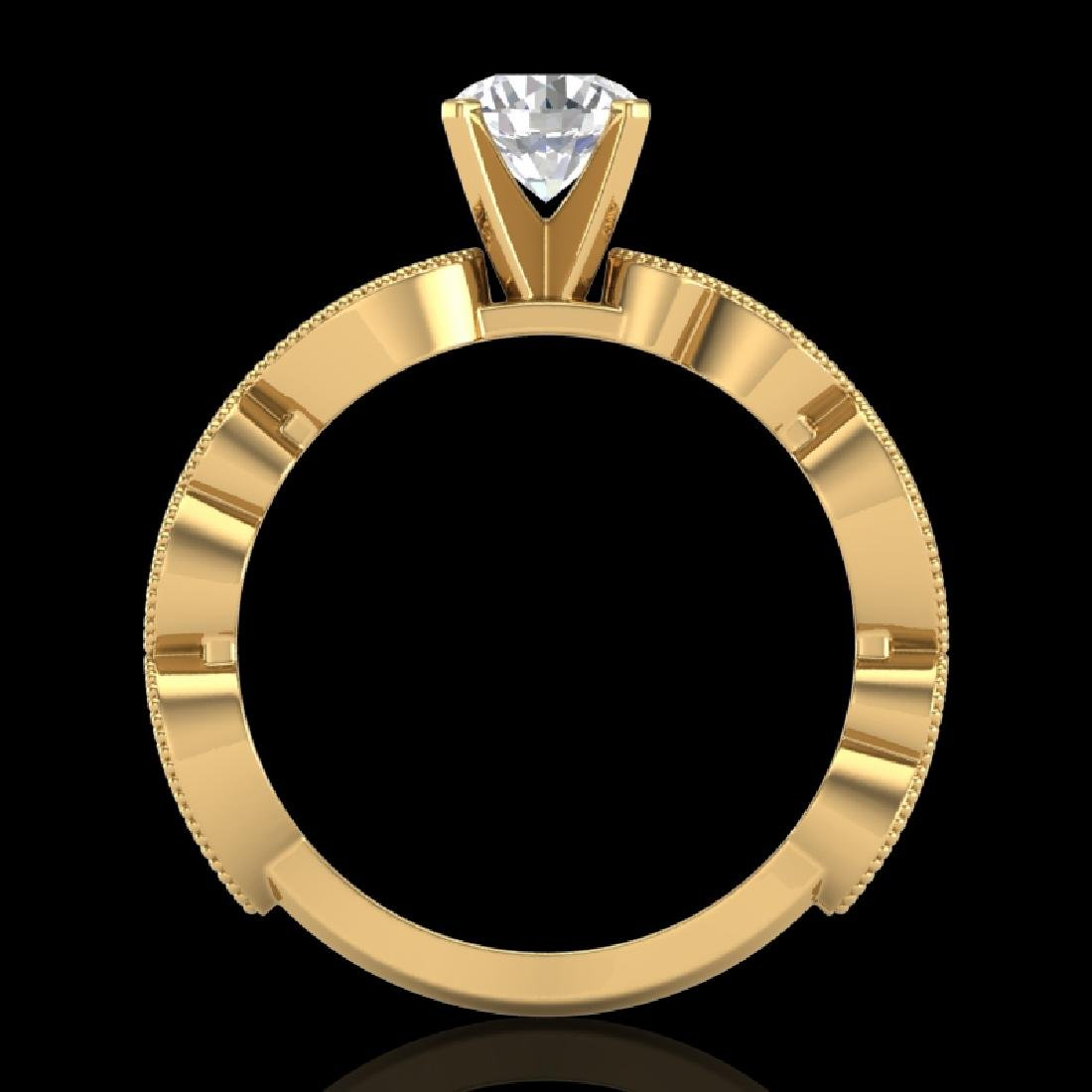 1.01 CTW VS/SI Diamond Solitaire Art Deco Ring 18K
