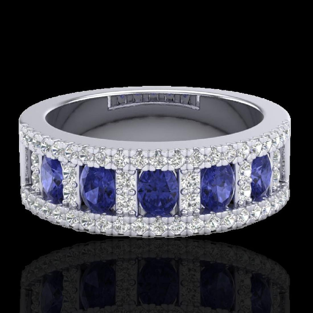 1.75 CTW Tanzanite & Micro Pave VS/SI Diamond Inspired