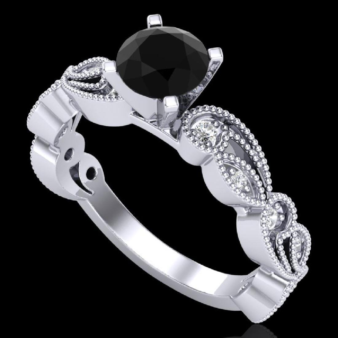 1.01 CTW Fancy Black Diamond Solitaire Engagement Art